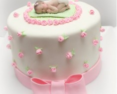 Girl baby shower cake1