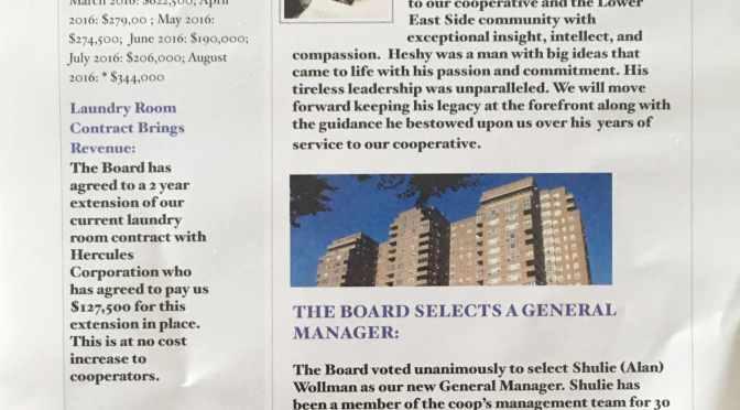 Board Room newsletter confirms $1.5 million shortfall