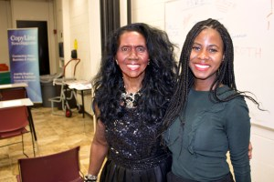 Juanita Bratcher, Editor and Publisher, Copyline Magazine and Ashley L. Thompson, Operations Manager, Junior Achievement