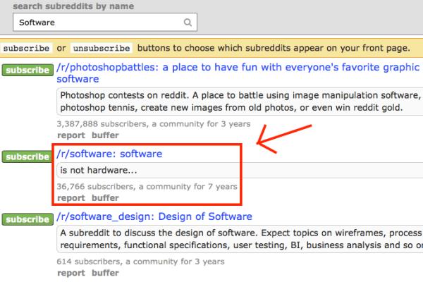 Search Subreddits - image