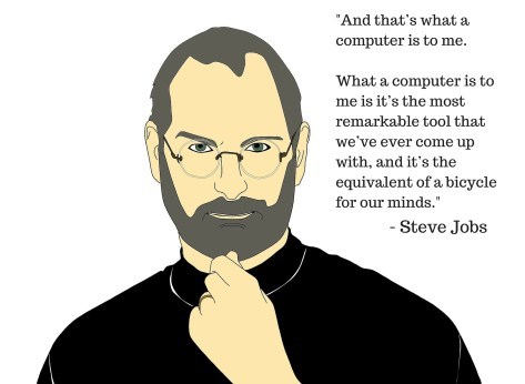 Steve Jobs with Tools Quote