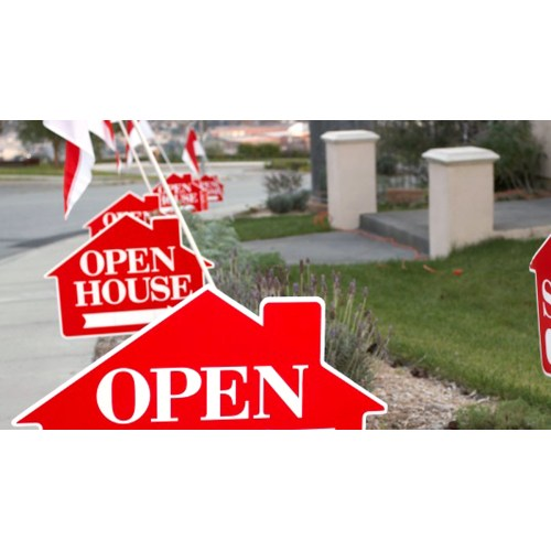 Medium Crop Of Open House Signs