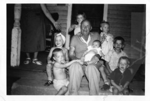 James Henry Corel with 7 Great Grandchildren