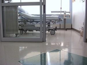 Empty hospital bad