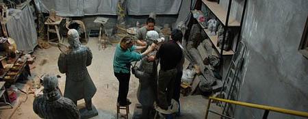 laury dizengremel commission - terra cotta warriors