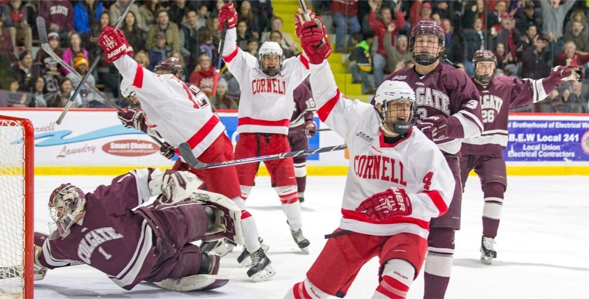 With Friday's win over Colgate, the Red are off to their best start since 2012. (Courtesy of Cornell Athletics)