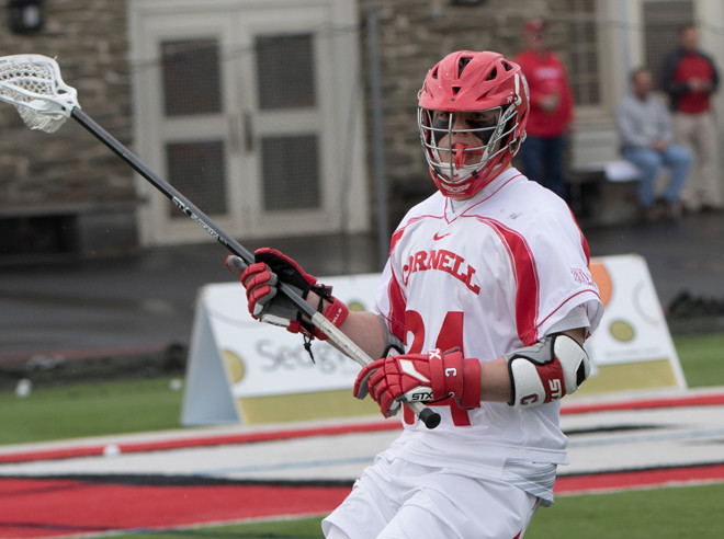 Using a strong defensive effort, Cornell beat Hobart, 10-8.