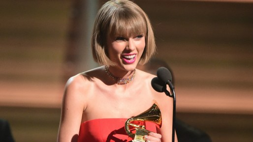 Taylor Swifts wins the Album of the Year Grammy Award.