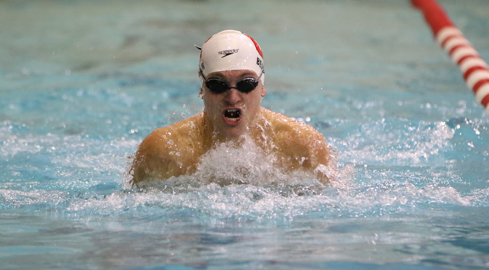 Senior Alex Evdokimov finished his final season on a high note with victories in the 100 and 200 meter breaststroke races.
