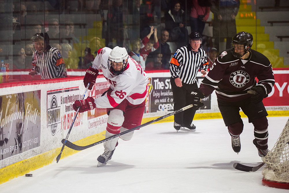 Despite junior forward Jeff Kubiak's and the men's hockey teams resilient efforts against Quinnipiac, they were not able to steal the series and now depend on an at-large bid for any NCAA tournament hopes.