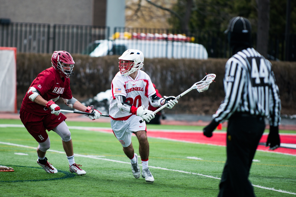 Freshman midfielder Ryan Bray is tied for the lead on the Red for assists this season