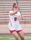 """Penn did an excellent job of guarding senior attack Emily Tripodi — the team's """"senior feeder"""" — and limited the powerful Red to just six goals."""
