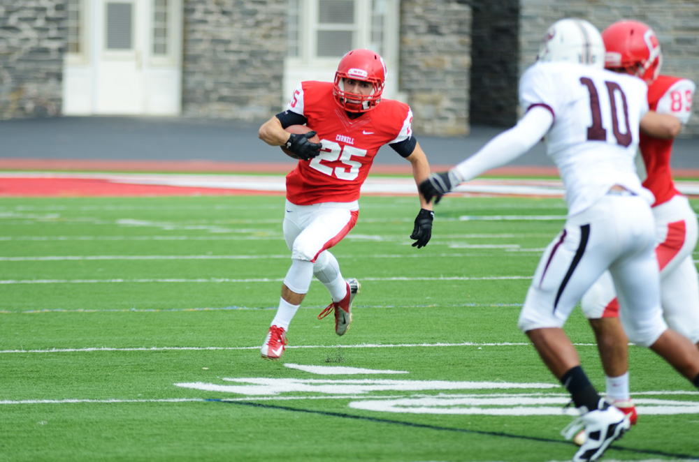 Senior running back Kevin Nathanson will be lining up alongside eight other returning starters on the offense.