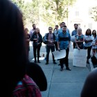 Cornell Graduate Students United organizes in support of graduate student Martha Jean-Charles at Caldwell Hall on Wednesday, Sept. 21.