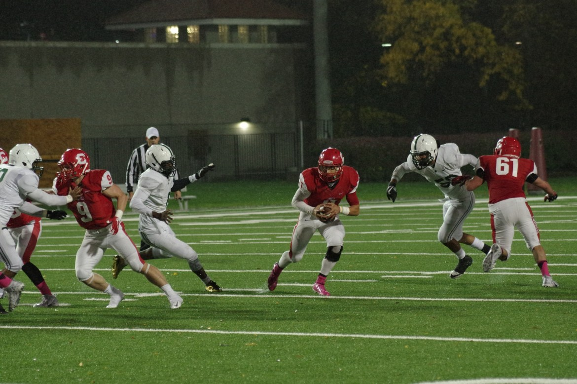 Senior quarterback Robert Pannullo rushed for 120 yards, with two rushing touchdowns and one through the air.