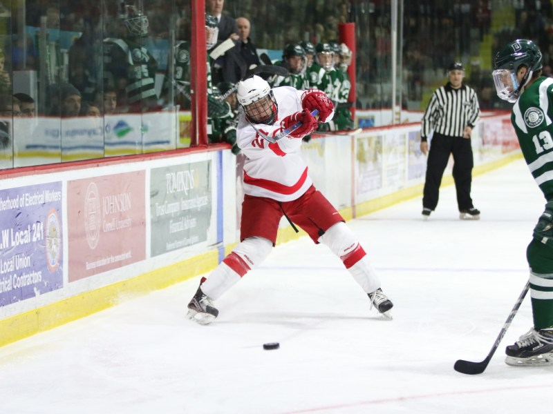 Patrick McCarron and Cornell men's hockey kicks off its season with a pair of exhibition games this weekend.  Friday January 22, 2016