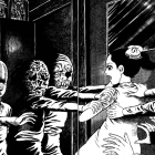 A panel of The Drifting Classroom