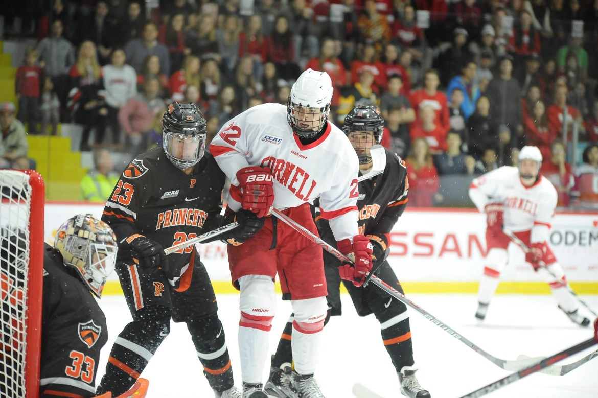 ECAC: Malott Hat Trick Powers No. 19 Cornell To 5-1 Victory Over Princeton For Schafer's 400th Win