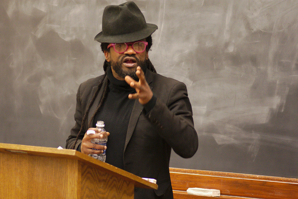 Reverend Osagyefo Sekou discussed the role of the artist in our communities on Monday.