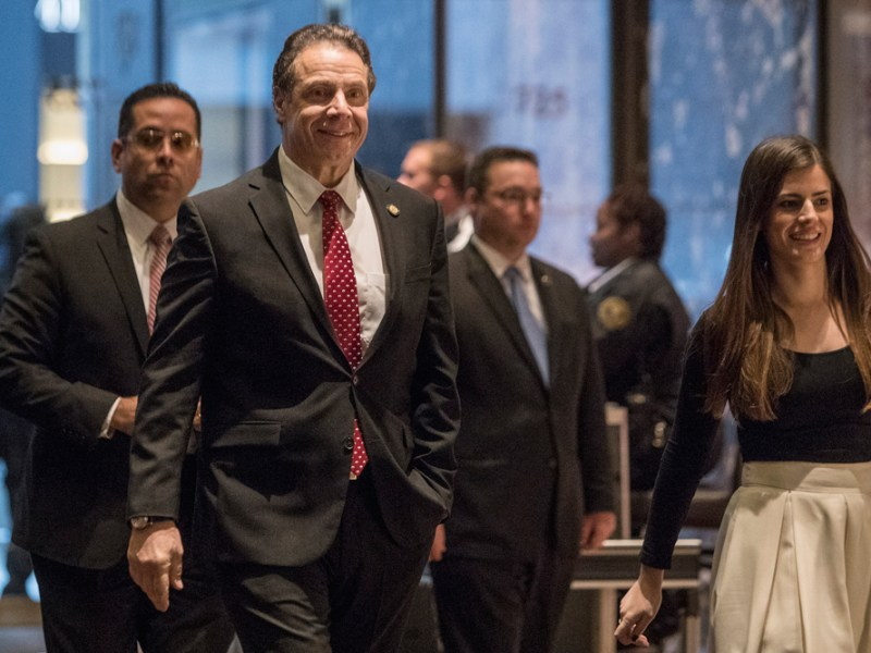 Gov. Andrew Cuomo (D-N.Y.), pictured, formally unveiled the scholarship at LaGuardia Community College in April after New York lawmakers approved it.