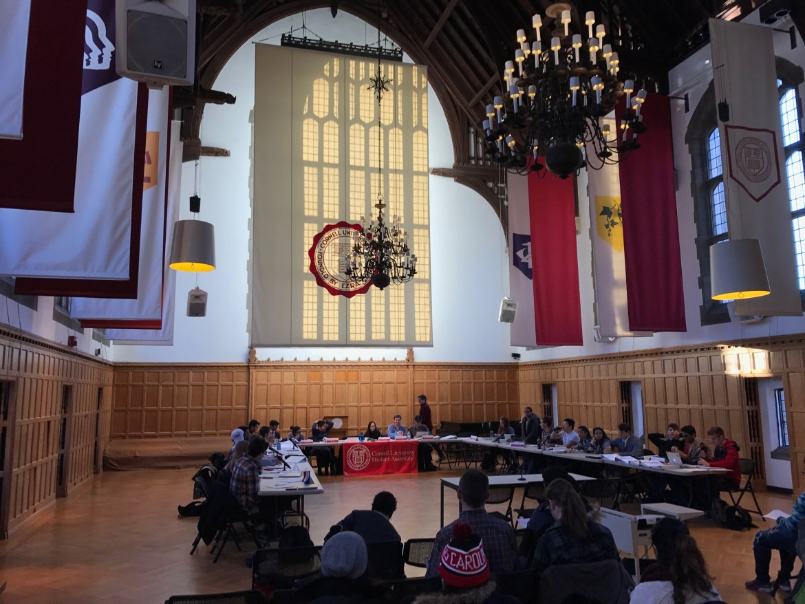 Resolutions passed on Thursday by the Student Assembly call on Cornell to push for human rights in Qatar and ask professors to consider allowing students to regularly use laptops in class.