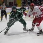 Men's Hockey: #5 Matt Nuttle vs. Darthmouth, 28 January 2017 (Katie Sims/Sun Staff Photographer)