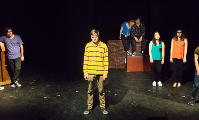 The cast of Dog Sees God: Confessions of a Teenage Blockhead at Risley Theater.