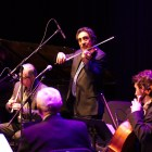 Simon Shaheen plays violin during his performance of Zafir at Bailey Hall.