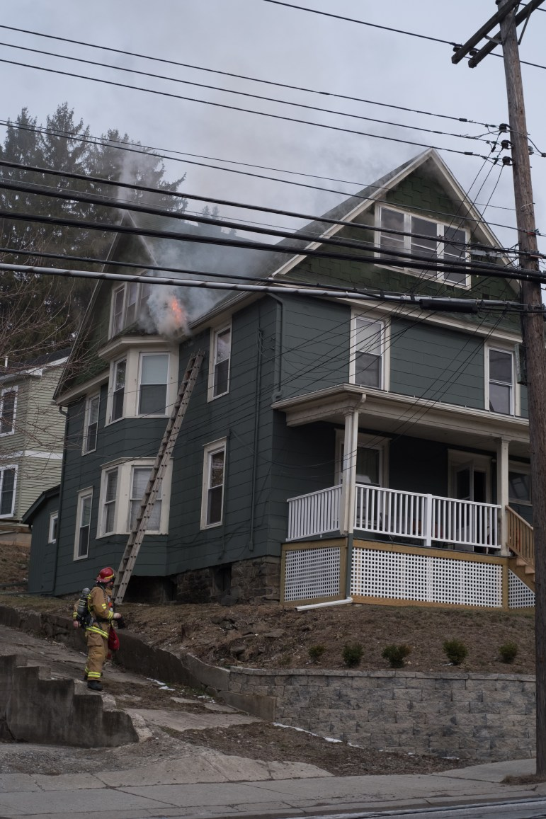 The fire began around 3 p.m. and was extinguished around 3:30, Ithaca's fire chief said.