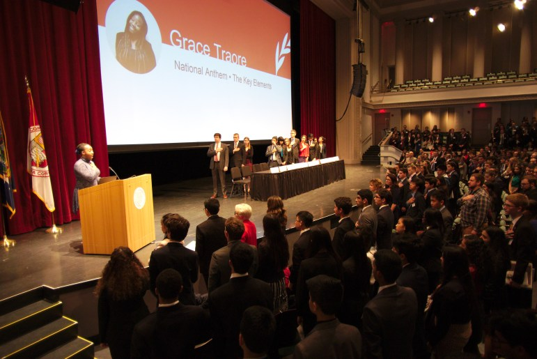 Over 800 high school students assemble in Bailey Hall for the 16th annual Cornell Model United Nations Conference.