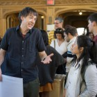 Students and faculty discuss civic engagement projects at Cornell's annual Civic Engagement Showcase.