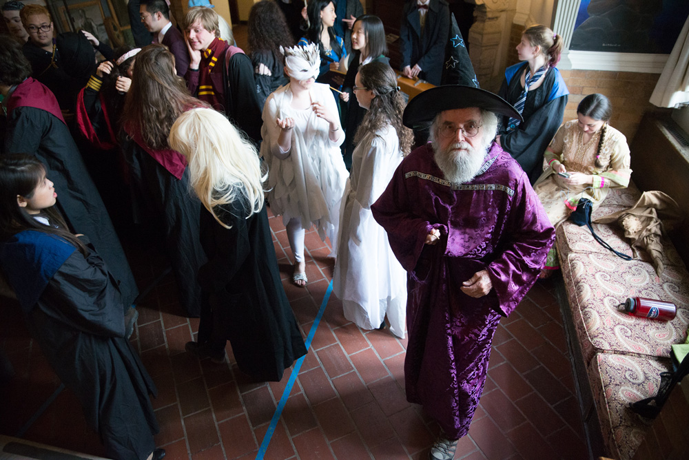 Harry Potter fans flocked to Risley Hall on Friday, with many dressing up as their favorite characters to add to the excitement of the event.