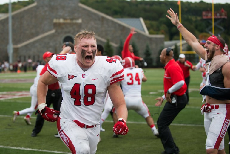Frimel was second in the Ivy League last season in forced fumbles to go along with his 59 tackles.