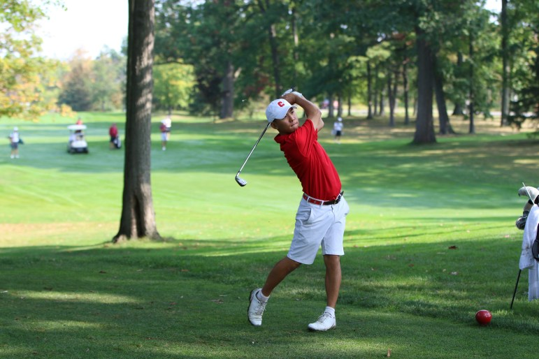 Mens's Golf (Jack) Tianyi Cen Cornell Invatational @ Robert Trent Jones Golf Course Saturday September 16, 2017 (Jason Ben Nathan / Sun Senior Photographer)