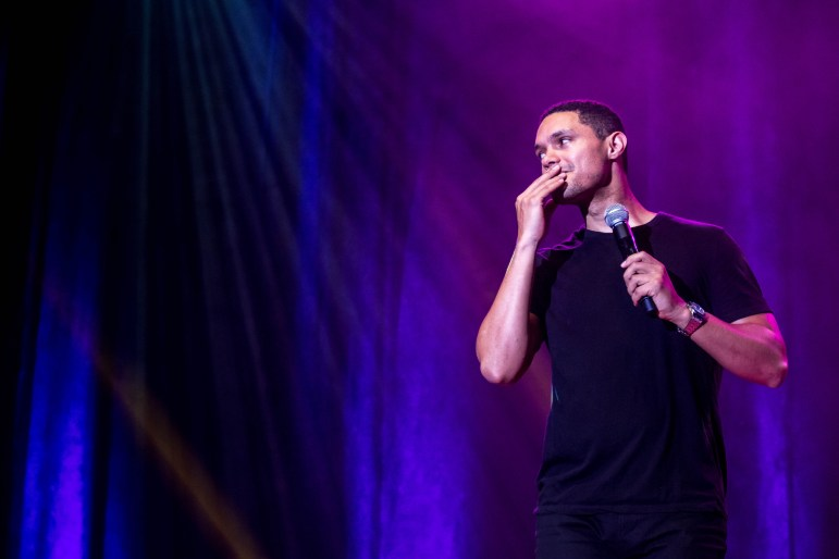The Daily Show host Trevor Noah tells Cornellians to ask themselves what kind of person they are in his talk on Sept.17, 2017 ( Michael Wenye Li/ Sun Assistant Photography Editor)