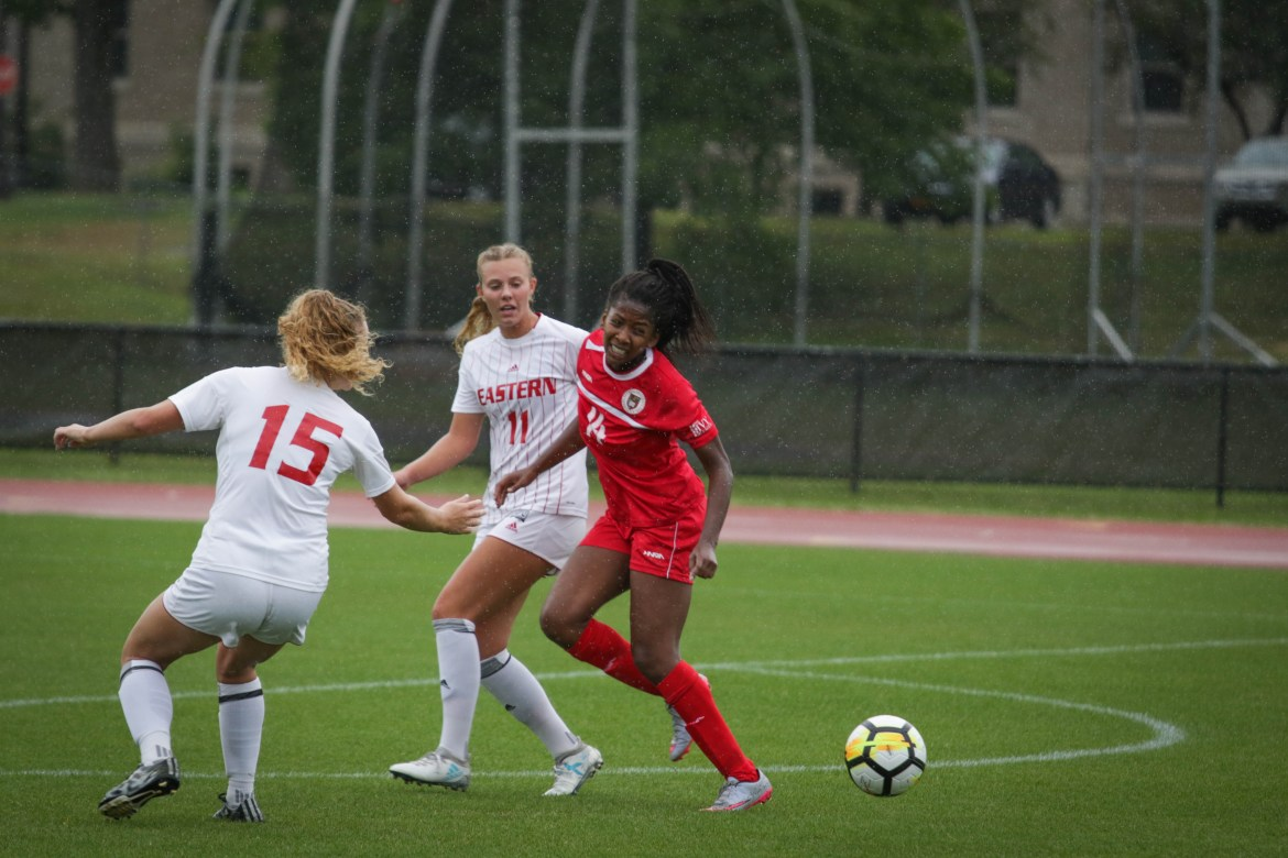 Paige DeLoach scored Cornell's first goal of the season Sunday, but it was not enough to give the Red its first win of the year.