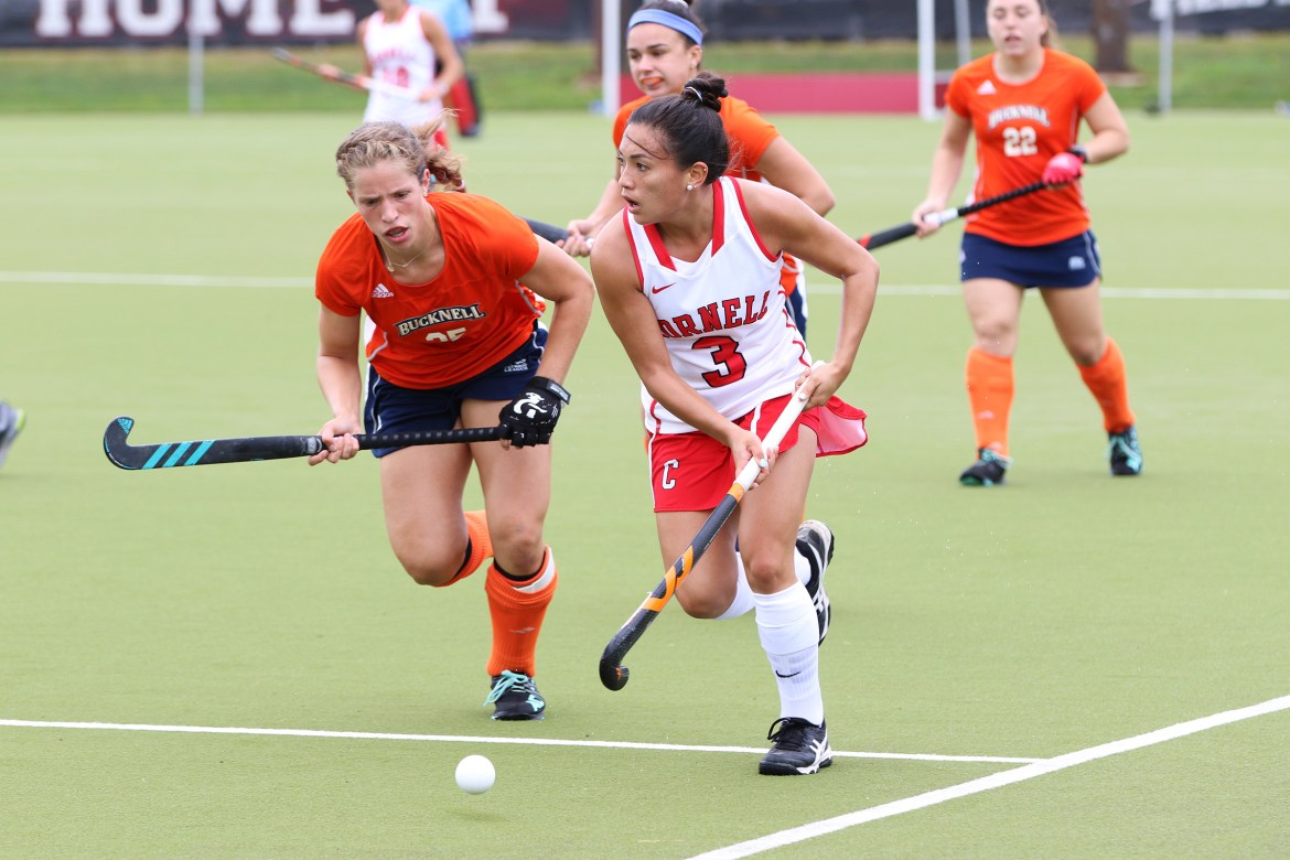 Gabby DePetro has both of Cornell's goals so far in the young 2017 season.