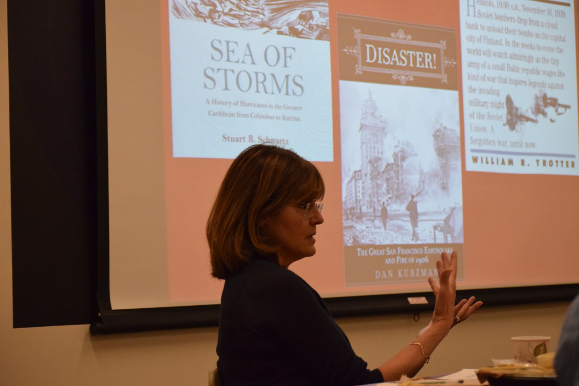 Maria Garcia speaks on refugees and climate change on September 28th Uris Hall.