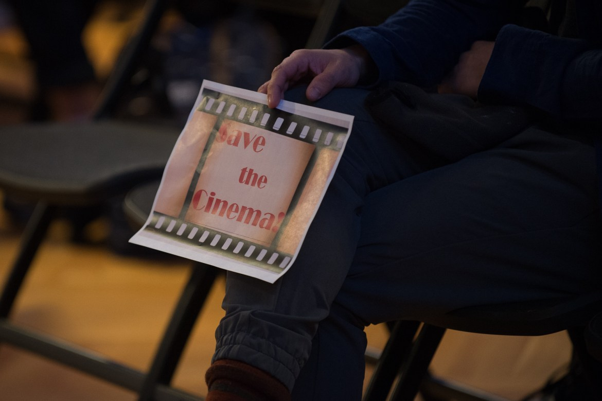 Fliers were circulated at the Student Assembly meeting, Thursday, calling on members of the community to express their support for Cornell Cinema.