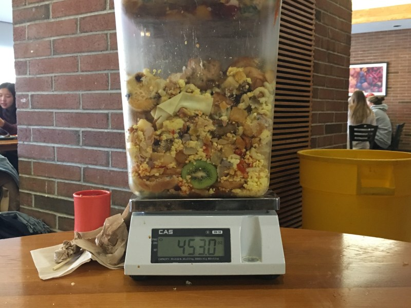 Food Waste from Brunch at RPCC, totaled 453 oz