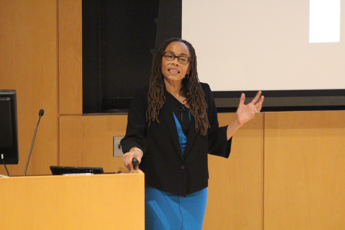 Dorothy Roberts lectures on Racism and the New Racial Science, Wednesday in Klarman Hall.