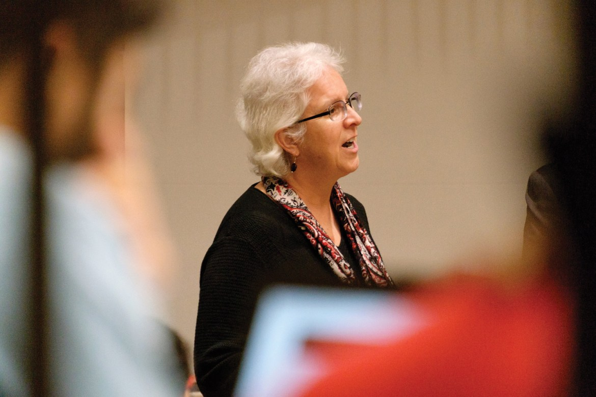 Graduate School Dean Barbara Knuth addresses the GPSA on Monday.