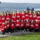 Pictured is the 2011-12 Cornell women's hockey team, which included all five Cornellians that will represent Team Canada at the 2018 Olympics in PyeongChang.