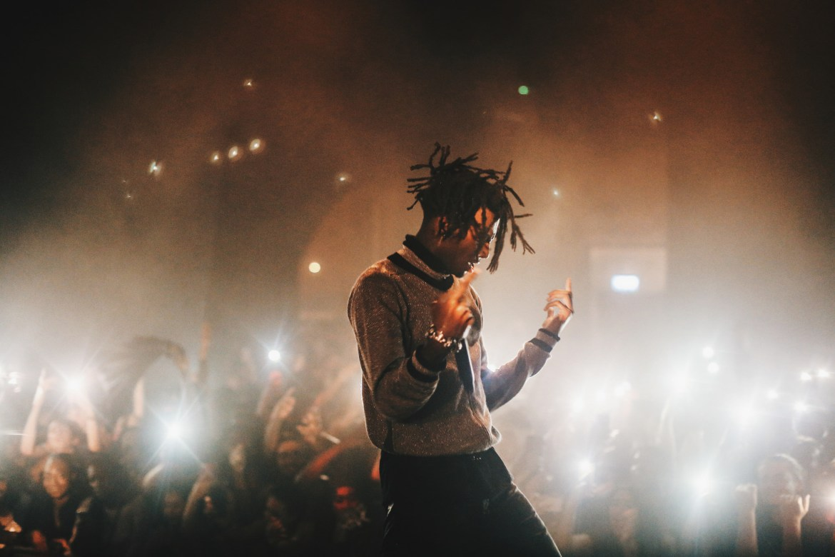 Playboi Carti, pictured here at the Village Underground in London, will perform at Cornell on March 18.