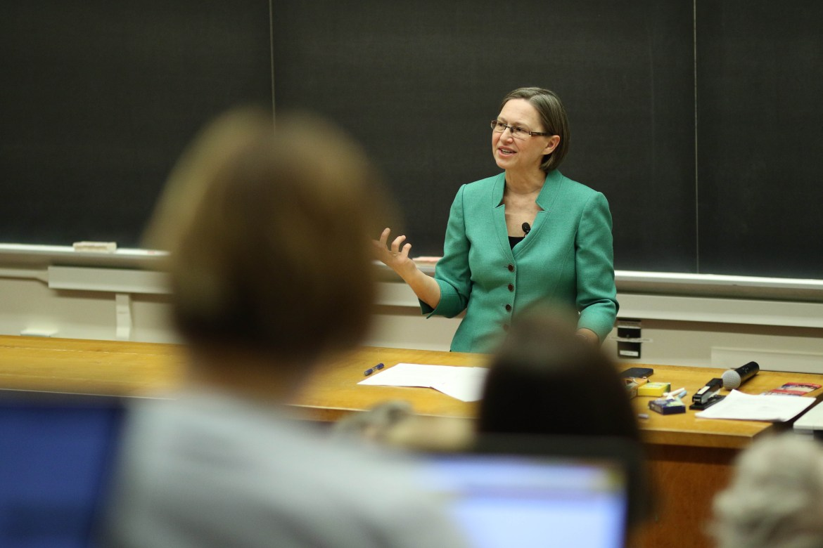 Jennifer A. Haverkamp, former U.S. special representative for environment and water resources, addressed climate change at Riley Robb on Feb 26, 2018.