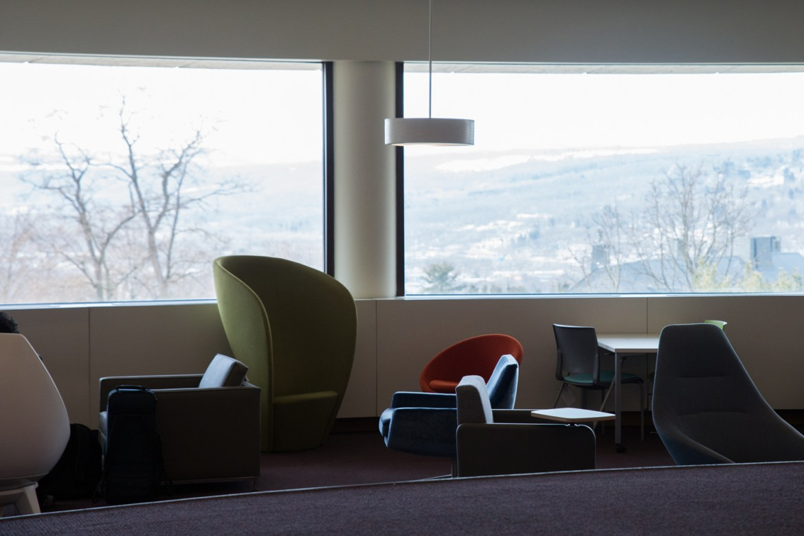 Uris Library's Cocktail Lounge is sporting new furniture as part of a broader effort to make the study space more accessible.