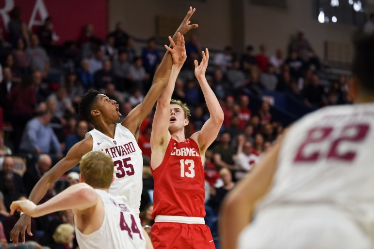 Despite taking a lead in the first half, the men's basketball team struggled to find its footing for the remainder of its semifinal game against Harvard, ultimately falling 55-74.