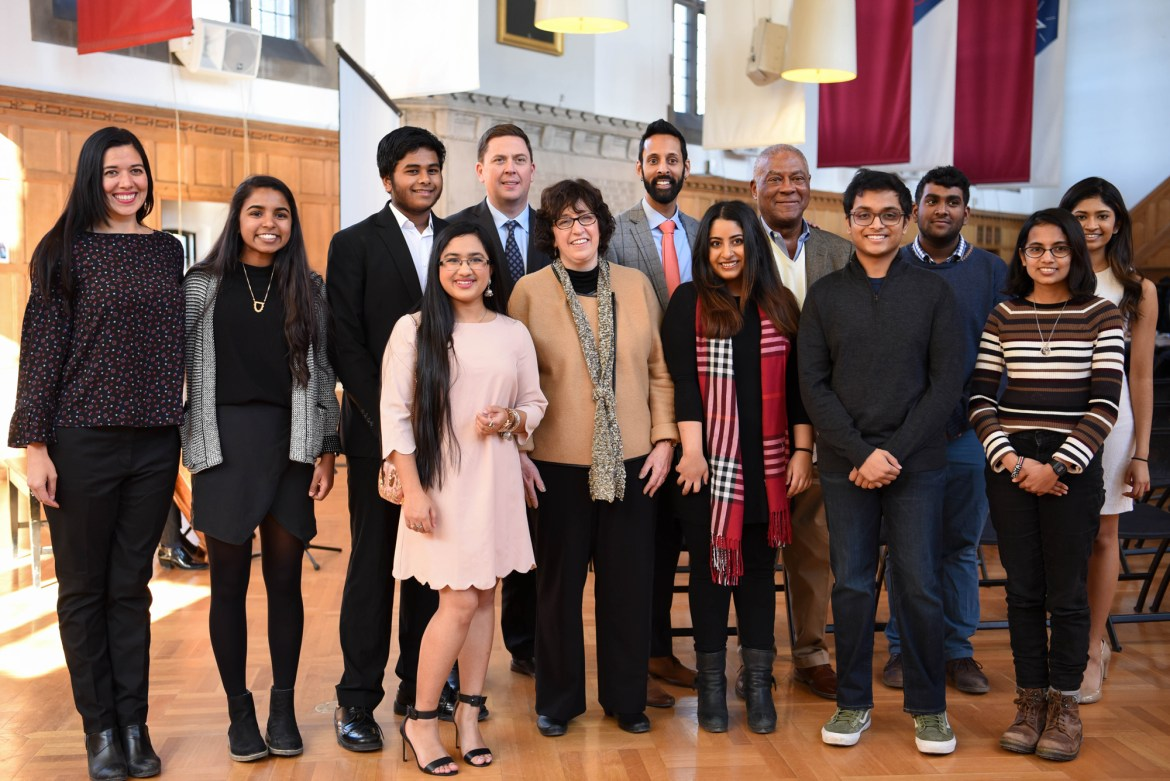 Members of the South Asian Council were recognized for their work at a reception in Willard Straight Hall on Monday.