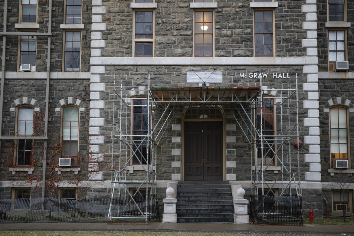The renovation plans for McGraw Hall, the third oldest building on campus by construction date, might finally resume after seven years of suspension.