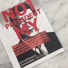 "The leaflets found on tables in Klarman Hall  stated ""Not My President"" in red ink over a black and white portrait of China's president Xi Jinping."